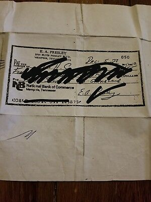 Elvis Presley, Hand Signed Check dated Dec. 5, 1973 Clear copy