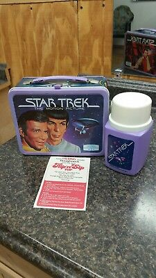 1979 metal lunchbox ~ STAR TREK THE MOTION PICTURE with thermos and paper insert