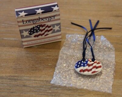 Longaberger All American Oval Flag Tie-On ~ New!