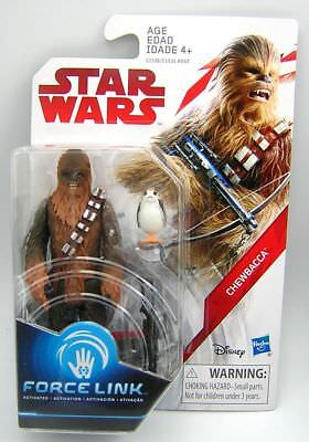 """Star Wars Last Jedi Chewbacca /& Porg 3.75/"""" ACTION FIGURE Force Link Toy"""
