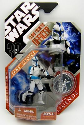 Star Wars 30th Anniversary TAC Saga Legends Clone Trooper Officer Blue