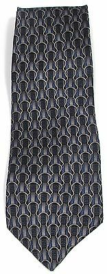 NEW Mens STONEHENGE COCKTAIL COLLECTION 100% Silk Blue & Silver Abstract Necktie