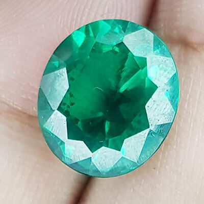 8.81 Cts Perfect Clean Finest Oil Enhanle Crystal Green Natural Zambian Emerald