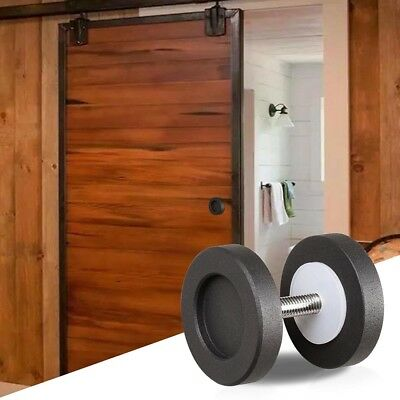 """2"""" Cast Iron Round Knob Handle Pull Gate Shed Matte Coffee for Sliding Barn Door"""
