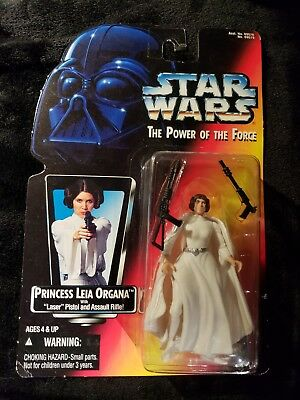 Princess Lea Organa Star Wars POTF2 Power of the Force RC red card 1995