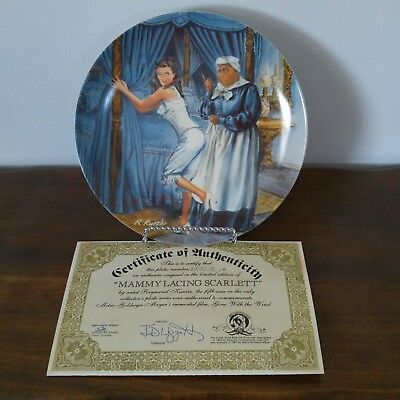 "KNOWLES MGM Gone With The Wind Plate #5 ~ ""MAMMY LACING SCARLETT"" ~ 3537H ~ MIB"