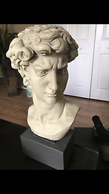 Michelangelo's David Bust White Statue, Large & Small Bust Beautiful, Great 🎁.
