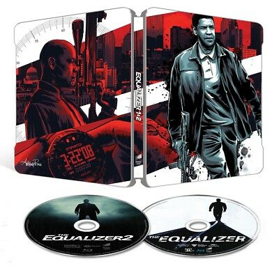The Equalizer 1 + 2 Limited Edition Steelbook Blu Ray