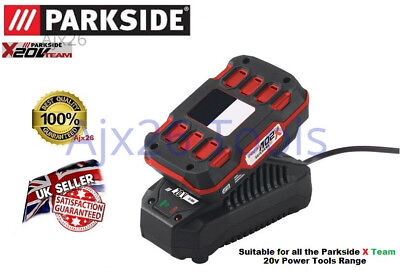 Parkside X Team 20V 2ah Battery & Charger PLG 20 A1 PAP 20 A1 Drill Grinder Saw