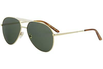 3b8ac0d283 GUCCI MEN S GG0242S GG 0242 S 003 Gold Fashion Pilot Sunglasses 59mm ...