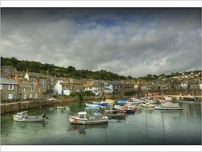 """12479221 16""""x12"""" (41x30cm) Print of Boats at Anchor Mousehole"""