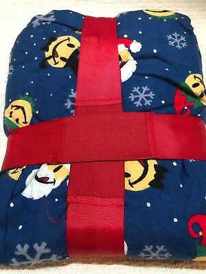 NWT Men's Joe Boxer Men's 2 pc Flannel Pajamas Emoji Santa Claus, Elfs ~ Size XL