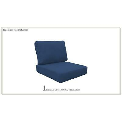Covers for High-Back Chair Cushions 6 inches thick in Navy
