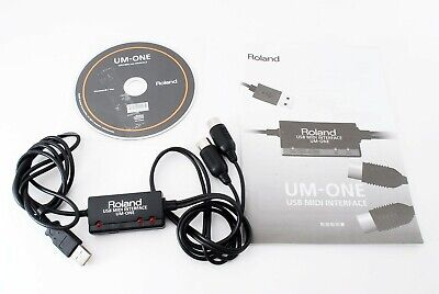 Roland USB MIDI Interface UM-ONE MK2 w/Tracking# form JAPAN  NEW