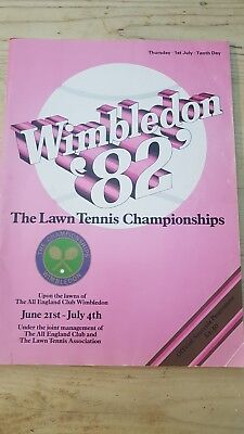 Wimbledon 1984 Brochure Tenth day (1st July) Very good condition