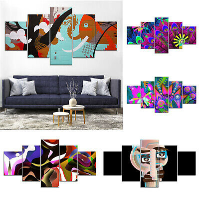 Modern Abstract Face Canvas Print Painting Framed Home Decor Wall Art Poster 5P