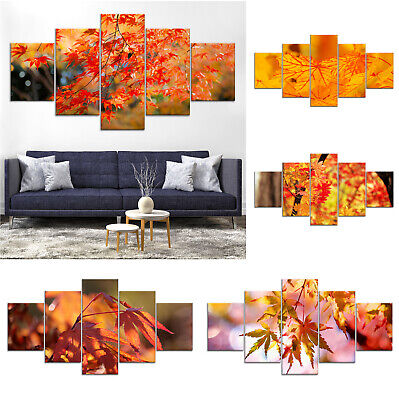 Maple Tree Canvas Print Painting Framed Home Decor Wall Art ee Poster 5Pcs