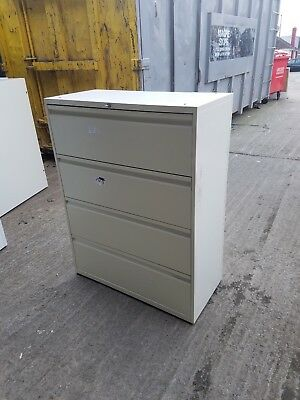 4 Drawer Creamy Metal Lateral Cabinet