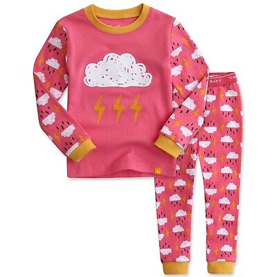 "Vaenait Toddler Kids Girls Long Sleepwear Pyjama Set ""Pink Thunder"" XS(12-24M)"