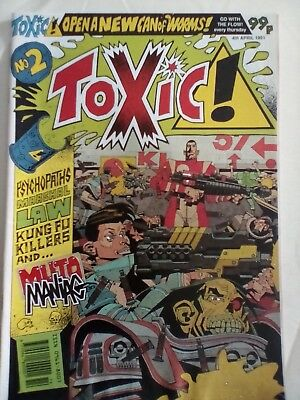 Toxic Comic #2 1991 - VERY GOOD Condition - RARE
