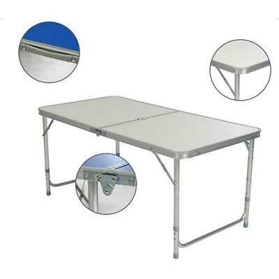 3'/ 4'/6' Ft Aluminum Camping Folding Table Portable Office Picnic BBQ Desk