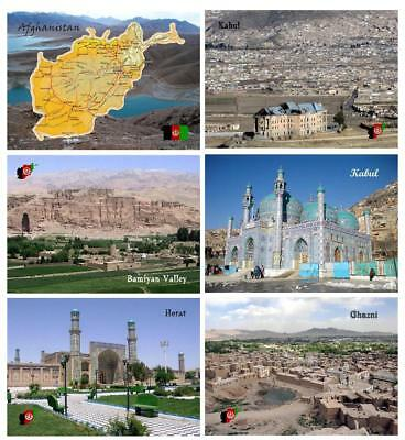 AK Afghanistan Map Kabul Sakhi Shrine Mosque Herat Mosque Bamiyan Valley UNESCO