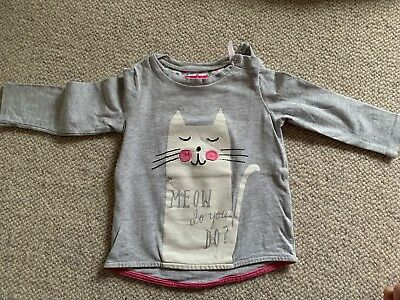Joules Grey Cat Top 6-9 Months