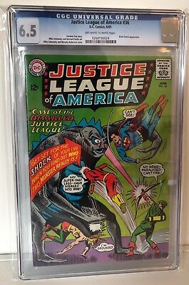 Justice League Of America #36 - Cgc 6.5 - Brain Storm - Ow/w