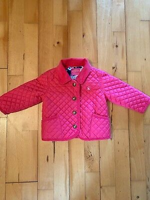 Joules Mabel Quilted Pink Jacket 3-6 Months