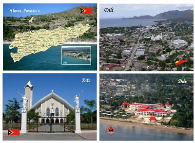 AK East Timor Country Map Dili Aerial View Cathedral New Postcard