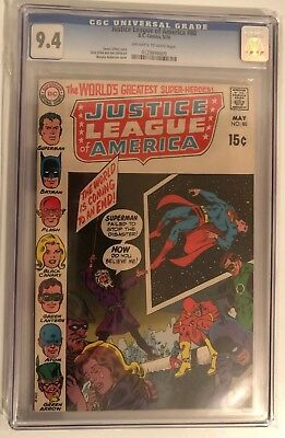 Justice League Of America #80 - Cgc 9.4 - Off White/white Pages