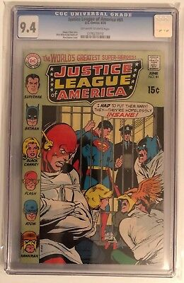 Justice League Of America #81 - Cgc 9.4 - Off White/white Pages