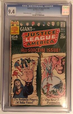 Justice League Of America #85 - Cgc 9.4 - White Pages - Giant Sorcery Issue!!