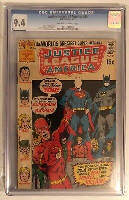 Justice League Of America #89 - Cgc 9.4 - Off White/white Pages