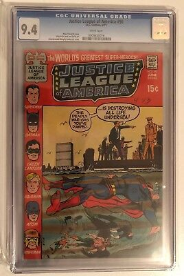 Justice League Of America #90 - Cgc 9.4 - White Pages