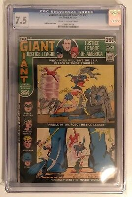 Justice League Of America #93 - Cgc 7.5 - Cream/off White Pages - Giant Issue