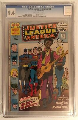 Justice League Of America #95 - Cgc 9.4 - Off White/white Pages