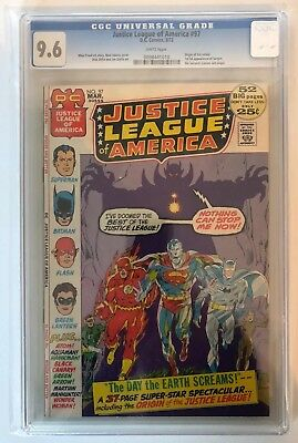 JUSTICE LEAGUE OF AMERICA #97 - CGC 9.6 - WHITE PAGES - 1st Silver Age Sargon