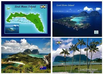 AK Lord Howe Island Map UNESCO New Postcard