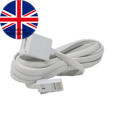15m BT Male to Female Extension Cable/Telephone Fax Modem Lead/iCHOOSE