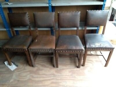 4 Off 1935 Leather Back Chairs
