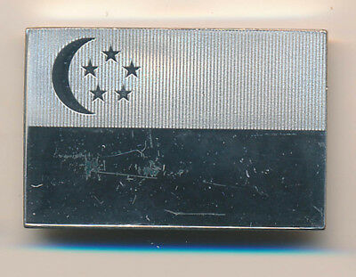 Singapore: 1974: 925 Sterling Silver INGOT Flag 29.7g - UN Series, SCARCE
