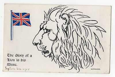 Patriotic Flag Lion A Tribute to our Colonies William Armitage....1914