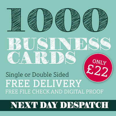 Business Cards Printed full colour double or single sided - 1000 only £22.00