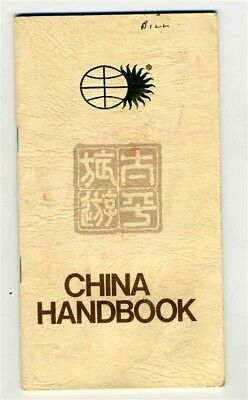 Pan Am & National Airlines China Handbook Pacific Delight Tours 1980