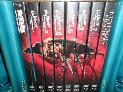 Mediabook Nightmare on Elm Street 1 2 3 4 5 6 7 8 Blu-Ray neu&ovp