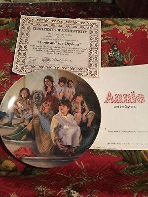 Bradford Knowles Annie And The Orphans The Annie Collection Fine China Plate