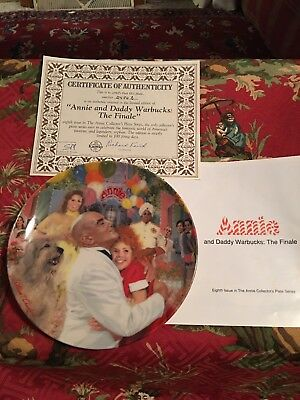 Bradford Knowles Annie & Daddy Warbucks: The Annie Collection Fine China Plate