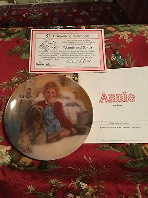 Bradford Knowles Annie And Sandy The Annie Collection Fine China Plate