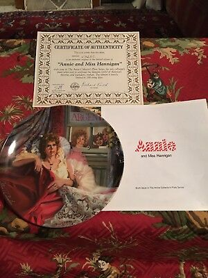 Bradford Knowles Annie And Miss Hannigan The Annie Collection Fine China Plate